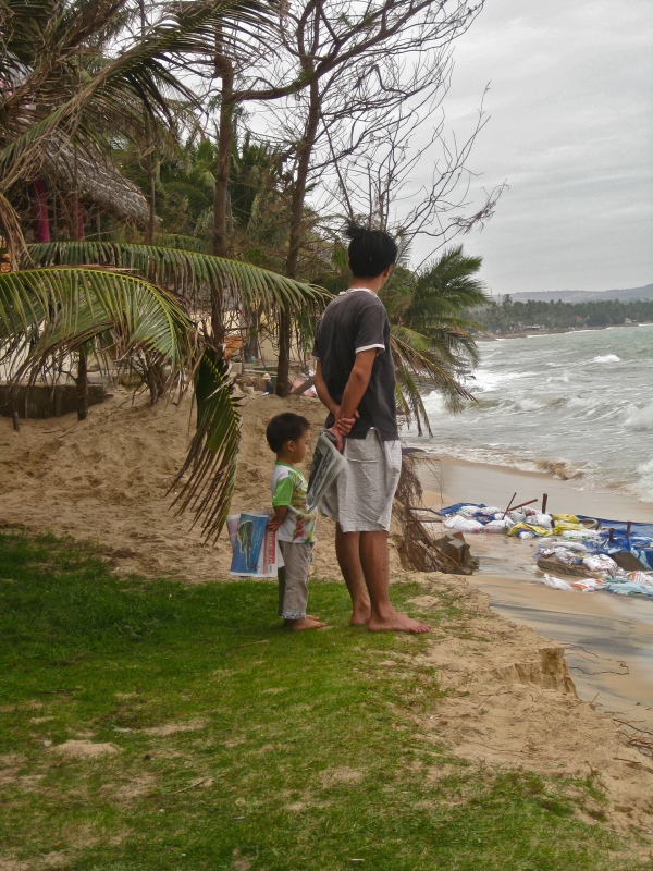 Beach erosion Mui Ne, Vietnam